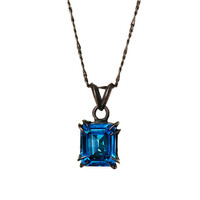 Catbird Solitaire Pendant Blue Topaz 10x8 421 ct by billyblue22