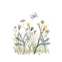 Meadow botanical illustration archival print - A5