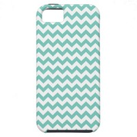 Cockatoo - Green Mint And White Zigzag Chevron iPhone 5 Case