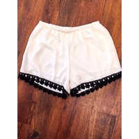 The Emily Shorts - Ivory: Blush Boutique & Specialty Shop