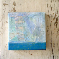 horizon -  mixed media, nautical, landscape, abstract, blue