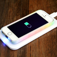 iPhone 6/5S/5/5C Qi Wireless Charger Charging Pad with Adapter Kit+Wireless Charger Receiver
