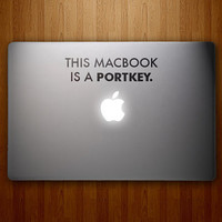 $7.95 This MacBook is a Portkey  Harry Potter Inspired  by DecalLab