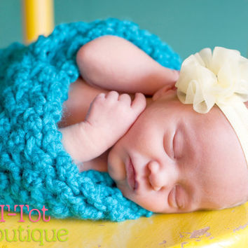 Fun and Trendy Handsewn Light Yellow Baby Maize Chiffon Ruffle Flower on a matching elastic headband MANY COLORS AVAILABLE