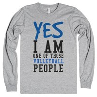Yes I am one of those Volleyball people tank top tee t