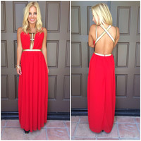 Catching Fire Maxi Dress - RED