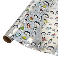 Penguin Holographic Gift Wrap$6.95