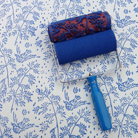 Patterned Paint Roller in Spring Bird