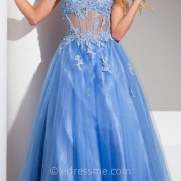 Linear Chiffon Prom Gown by Tony Bowls Le Gala