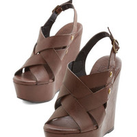 ModCloth Vintage Inspired Crisscross Your Path Wedge