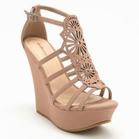 BLUSH CUT OUT WEDGES