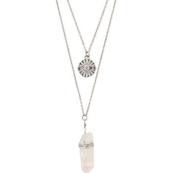 Gypsy Warrior Crystal Evil Layered Necklace at PacSun.com