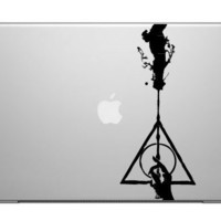Harry Potter sticker DEATHLY HALLOWS laptop decal