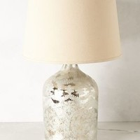 Silver-Etched Lamp Base by Anthropologie Silver Jar Lighting