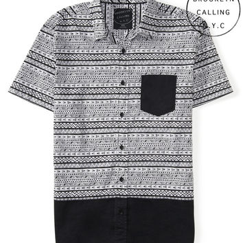 Brooklyn Calling Tribal Geo Woven Shirt