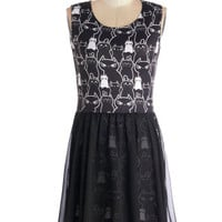 ModCloth Cats Mid-length Sleeveless A-line Kitty Crew Dress