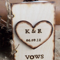 Small Rustic VOW Book for your Wedding Write your own by GoRustic