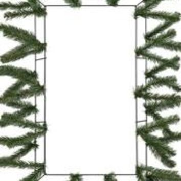 Rectangle Work Wreath Form: Green