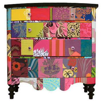 patchwork chest of drawers by bryonie porter | notonthehighstreet.com