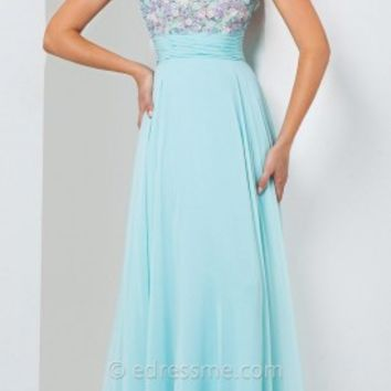 Floral Beauty Prom Gown by Tony Bowls Le Gala