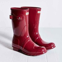 Hunter Original Short Gloss Rain Boot- Plum