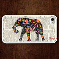iPhone 4 Case, iphone 4s case --Elephant iphone case,colorful elephant on Dictionary iphone 4 case, iphone case