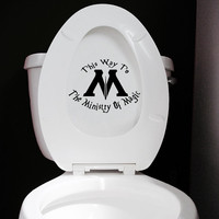 Ministry Of Magic Toilet Sticker - Funny Harry Potter Toilet Decal or Bathroom Wall Sticker