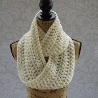 Ready To Ship Infinity Scarf Winter White Ivory Women's Accessory Infinity Scarf