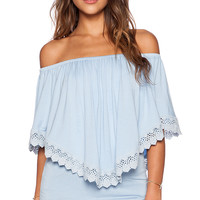 VAVA by Joy Han Halle Convertible Top in Blue