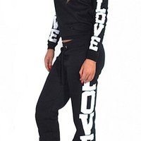 Womens Riva Love Print 2 Piece Sweater/joggers Tracksuit (Inx)
