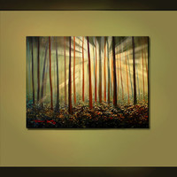 ORIGINAL PAINTING Abstract Landscape by americanartsgallery