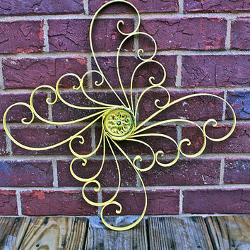 Sunny Yellow Metal Wall Fixture by AquaXpressions