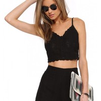 Lush Embroidered Crop Top
