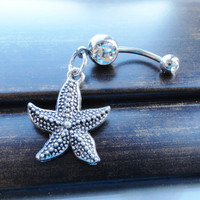 Starfish Belly Button Ring Belly Piercing