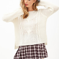 FOREVER 21 Classic Cable Knit Sweater