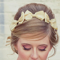 Three little bows headband for adults by BeSomethingNew on Etsy