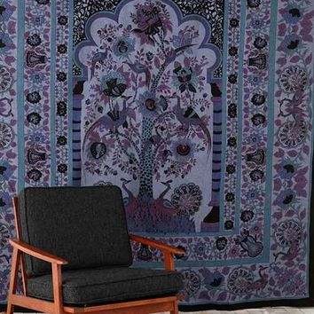 Tree Of Life Tapestry- Blue One