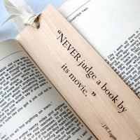 2in x 6in Wood Bookmark Never judge a book by by quotesandnotes