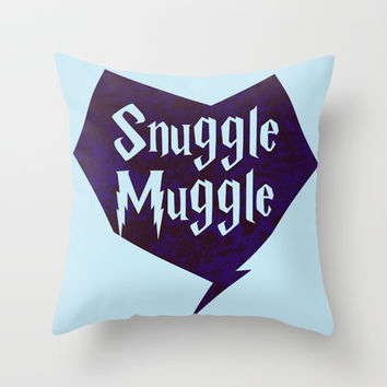 Snuggle Muggle Throw Pillow by LookHUMAN