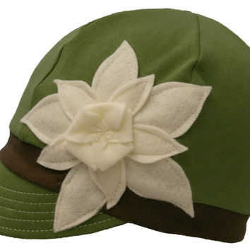 Flipside Upcycled Hats - Green & White