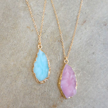 Stone Isle Necklace [6908] - $14.00 : Feminine, Bohemian, & Vintage Inspired Clothing at Affordable Prices, deloom