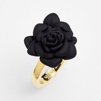 Women's MARC BY MARC JACOBS 'Jerrie Rose' Flower Ring - Black/ Oro