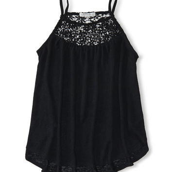 Floral Lace Accent Swing Cami