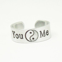Yin yang ring Couple ring - Boyfriend ring girlfriend ring - Sweetheart ring - Valentines gift - Relationship ring
