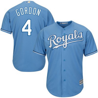 Alex Gordon Kansas City Royals Majestic Cool Base Player Jersey – Light Blue