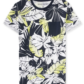 Hibiscus Pocket Tee