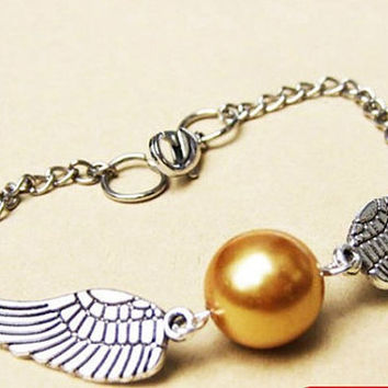 Golden Snitch Bracelet In Silver Steampunk Harry by qizhouhuang