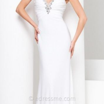 Racer Back Sheath Prom Gown by Tony Bowls Le Gala