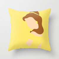 Belle - Beauty - Beauty and the Beast Throw Pillow by Adrian Mentus