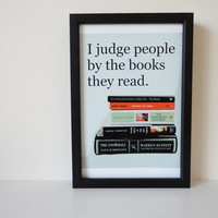 $9.00 Typography Print Judge People by the Books by SacredandProfane